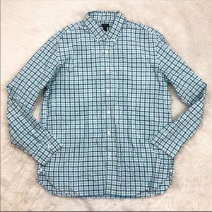J.Crew Blue White Plaid Button Down Shirt